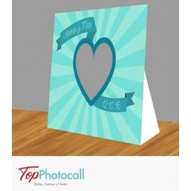 Photocall Troquel Corazón Cinta