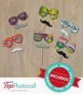 Palillos Bigotes y Gafas (24 piezas)