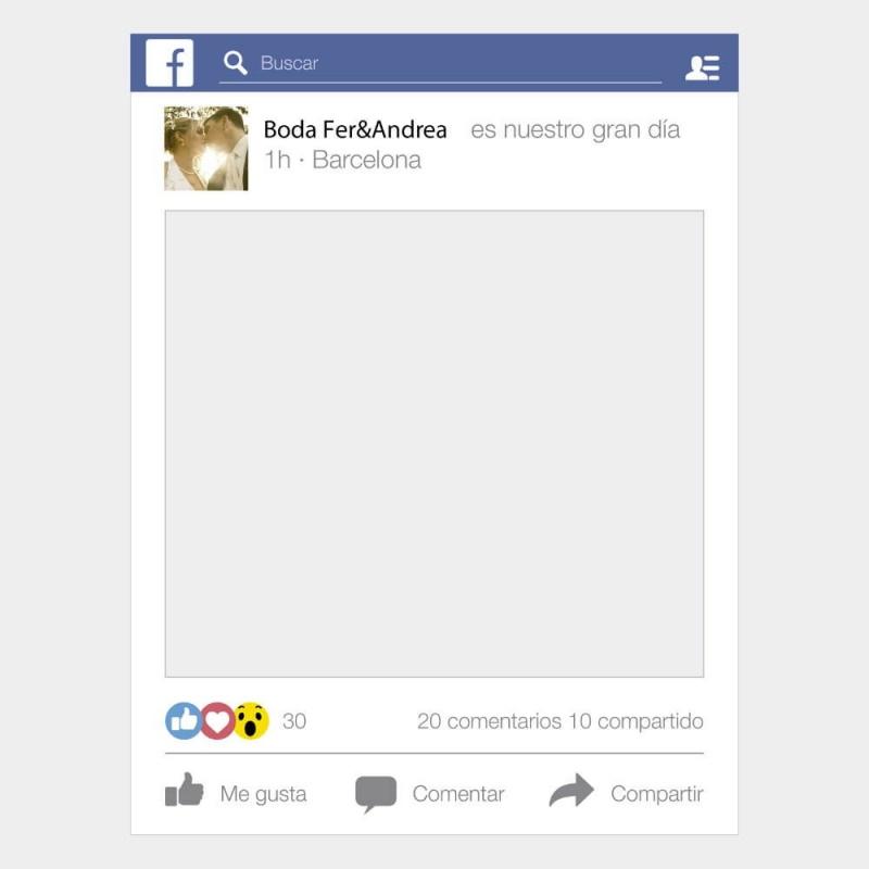 Photocall de Marco con forma de Facebook - Top Photocall