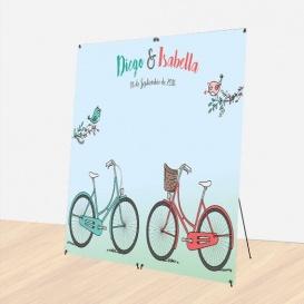 Photocall Boda Bicicletas