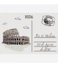 Photocall Boda Postal Roma