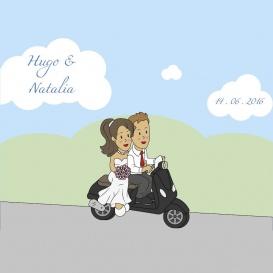 Photocall Boda Moto Recién Casados