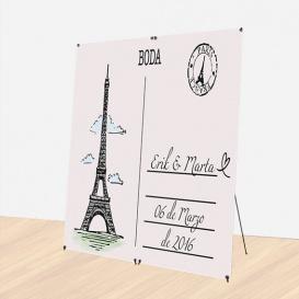 Photocall Boda Postal París