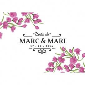 Photocall Boda Floral Ramas