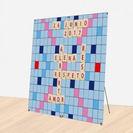 Photocall Boda Scrabble