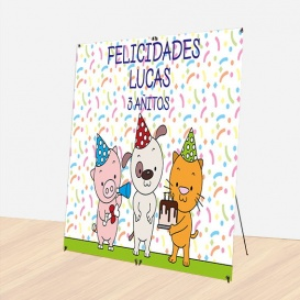 Photocall Cumpleaños Animales