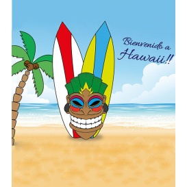 Photocall Temático Tiki Hawaiano