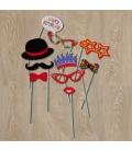 Palillos Happy Birthday (10 piezas)