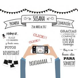 Photocall Comunión Diversión Blanco