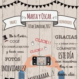Photocall Boda Diversión Madera