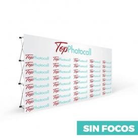 Photocall textil sin focos