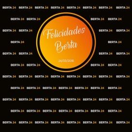 Photocall Cumpleaños círculo naranja