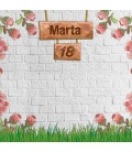 Photocall Cumpleaños flores pared