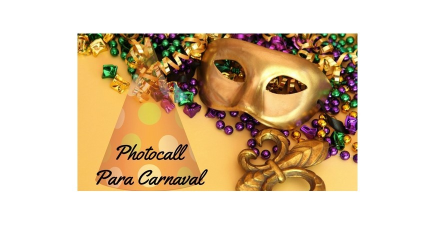 Un photocall para carnaval, ¿se te ocurre algo mejor?